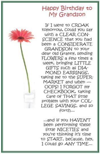 Happy Birthday Grandma Quotes From Grandson ~ Happy birthday grandson quotes quotesgram